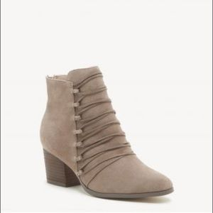 Sole Society Bellevue Corset Taupe Bootie! NWOT!
